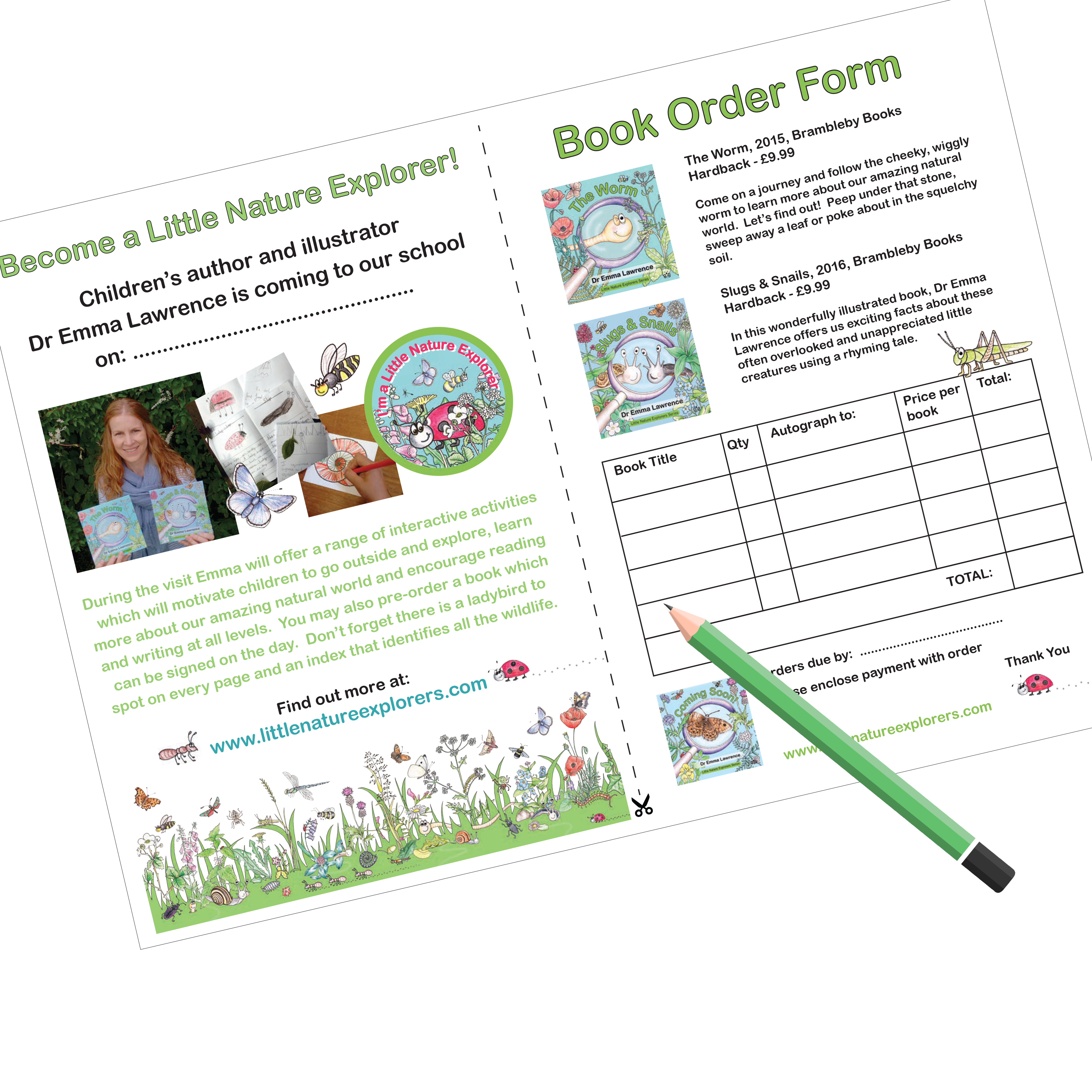 School visit flyer book order form