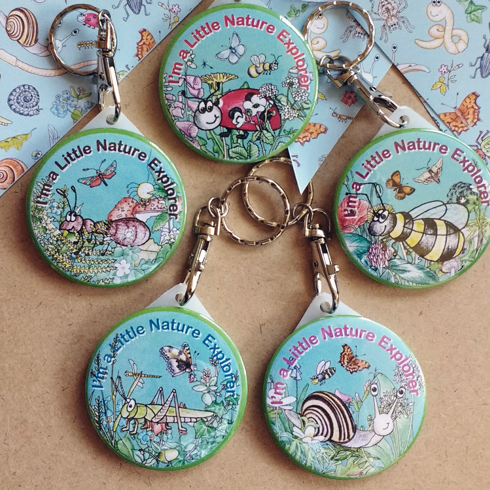 Keyrings I'm a Little Nature Explorer