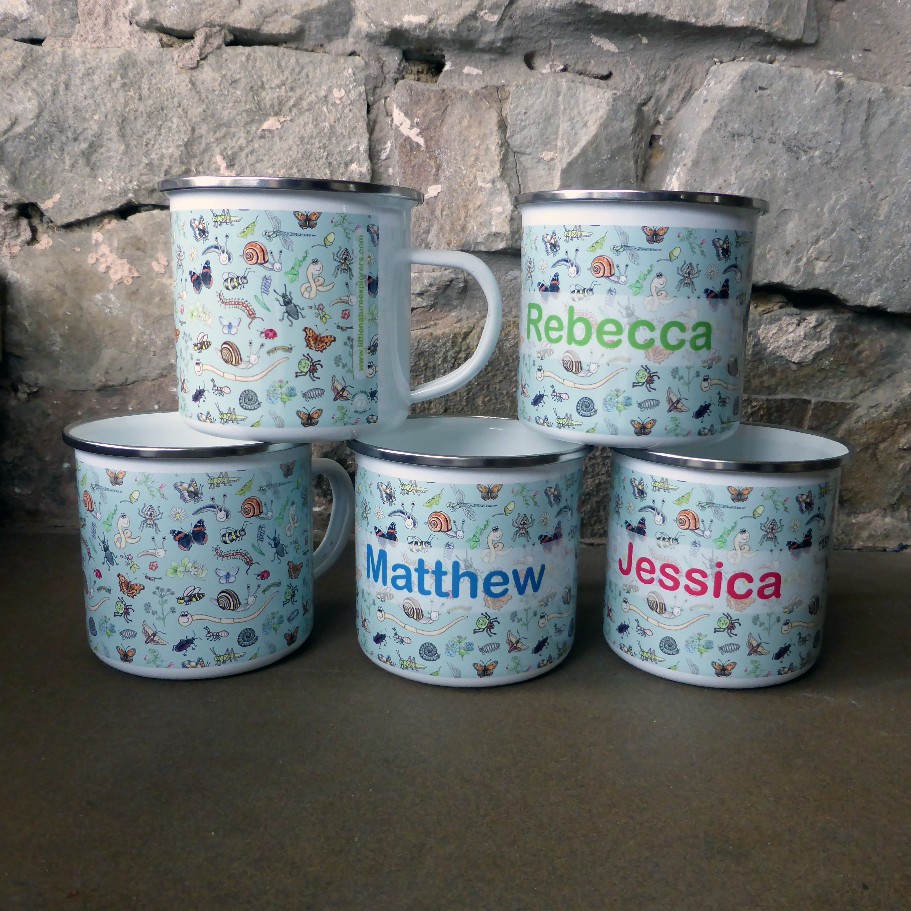 Enamel Bug Mugs